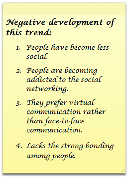 1. People have become less social