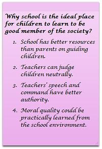 2. Teachers can judge children neutrally